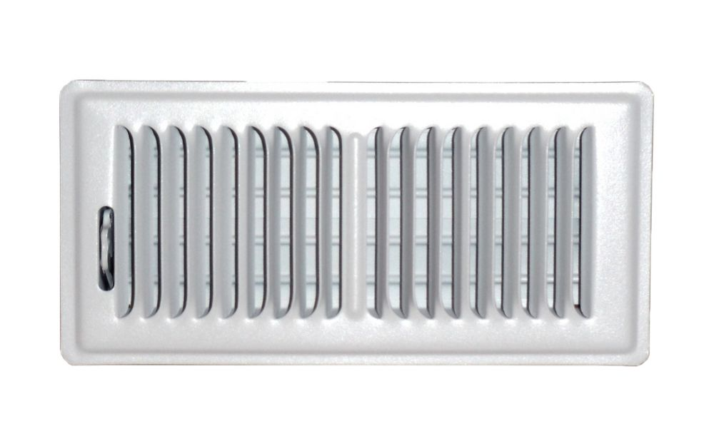 4 in. x 10 in. White Floor Register Vent Cover