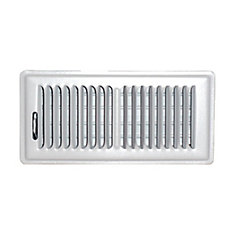 hdx 4 inch x 10 inch floor register - white | the home depot canada