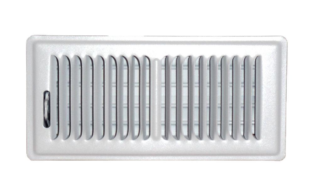 4 in. x 14 in. White Floor Register Vent Cover