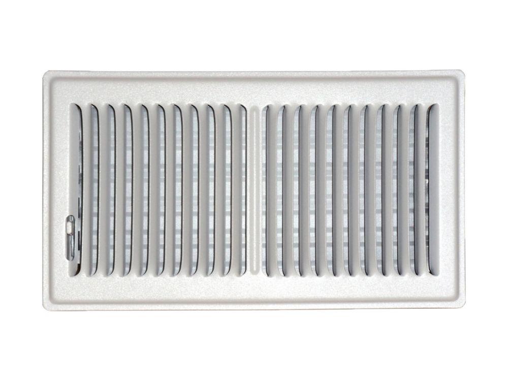6 in. x 12 in. White Floor Register Vent Cover