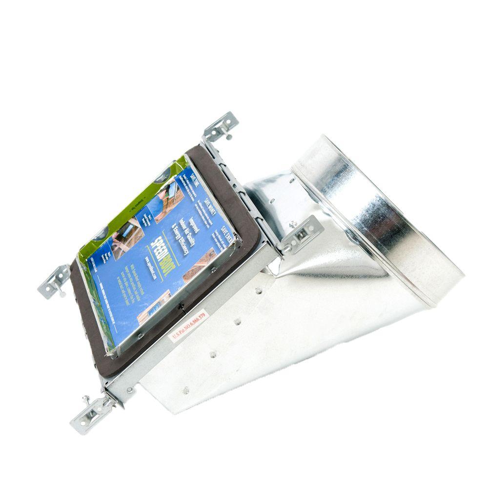 Bouche d'aération avec registre à 90 degrés et fixations réglables pour conduit de CVCA 6 po x 12...