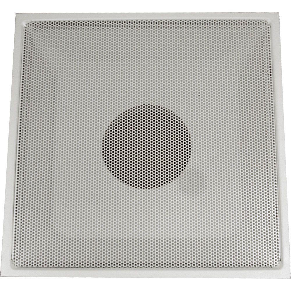 Grille dextraction dair blanche en acier pour plafond suspendu T, perforée, avec charnières 24 x ...