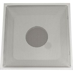 Speedi-Grille 24 in. x 24 in. x 10 in. Collar White Drop Ceiling T-Bar Perforated Return Air Hinged Face Grille