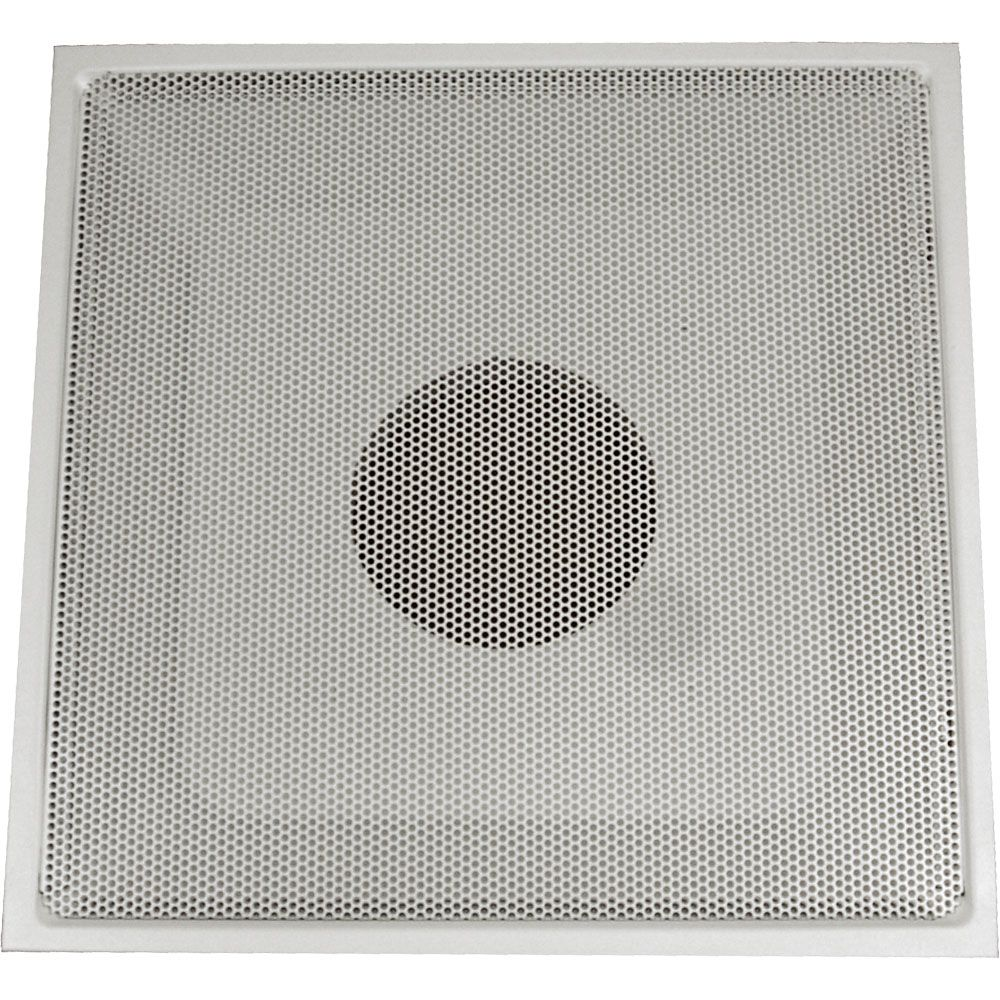24 in. x 24 in. x 14 in. Collar White Drop Ceiling T-Bar Perforated Return Air Hinged Face Grille