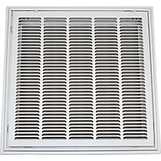 24-inch x 24-inch T-Bar Stamped Hinged Face Return Air Filter Grille