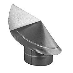 Chapeau rond de cheminée directionnel antibourrasque 6 po