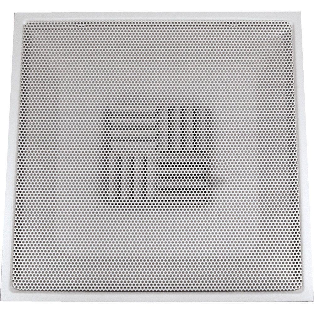 Diffuseur carré blanc pour plafond suspendu T, perforé avec articulation mécanique en acier régla...