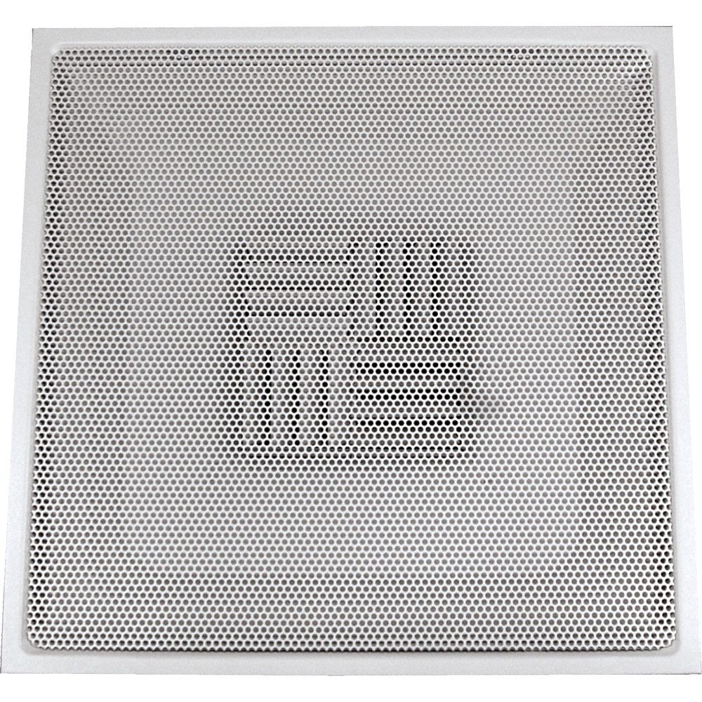 24 in. x 24 in. x 14 in Collar White Drop Ceiling T-Bar Perforated Adj. Blade Steel Supply Air Re...
