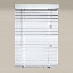 Home Decorators Collection 60x64 White 2 Inch Faux Wood Blind Actual Width 59 5 Inch The