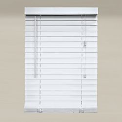 Home Decorators Collection White 2-inch Faux Wood Blind - 60-inch W x 64-inch L (Actual Size 59.5-inch W x 64-inch L )