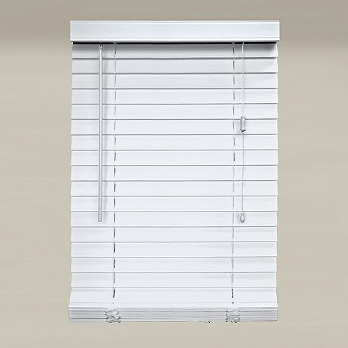 Home Decorators Collection 2-inch Faux Wood Blind in White - 71.5-inch x 64-inch