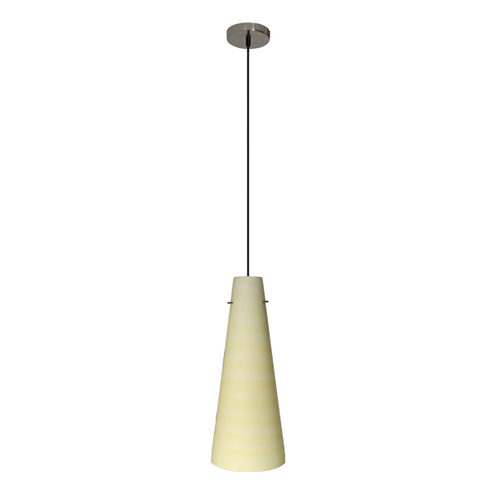 Conventional Series 1-Light Ceiling Mount Pendant  Fixture with Crème Glass Shade and GU24 Energy Star Qualified Bulb