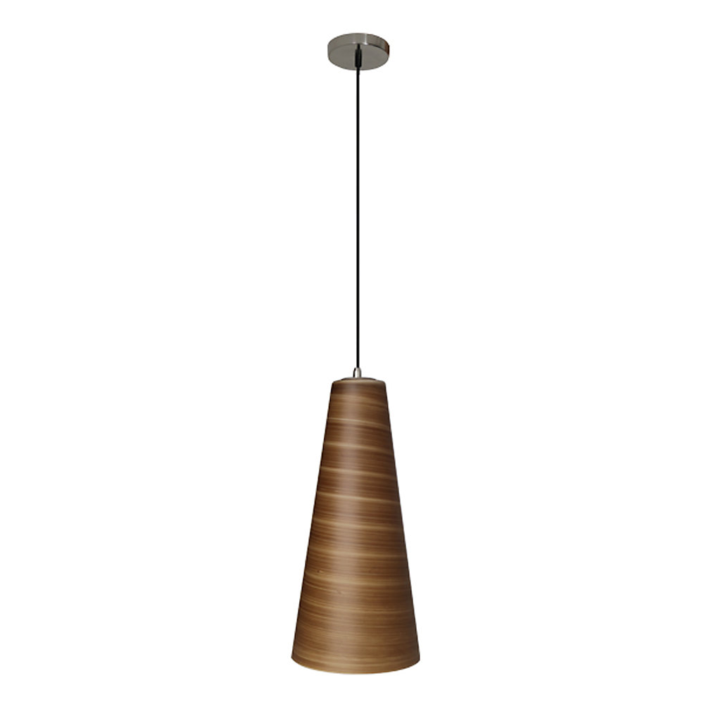 Traditional Series 1-Light Ceiling Mount Pendant  Fixture with Brown Glass Shade and GU24 Energy Star Qualified Bulb