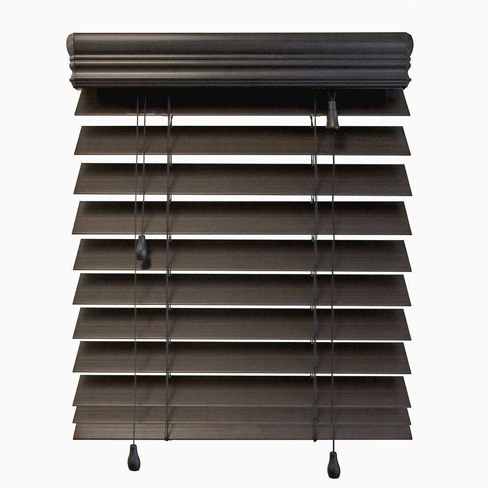 Stores en bois dimitation de qualité supérieure de 6,35 cm (2 ½ po), Espresso, 107cmx122cm (Large...