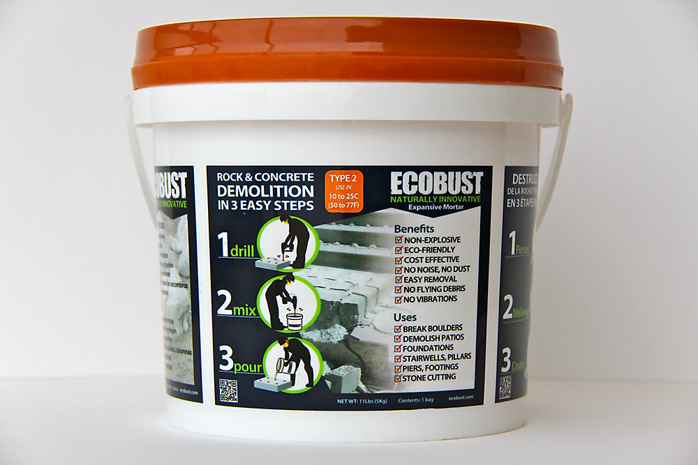 TYPE 2 (10 to 25C) Expansive Mortar - 11 Lbs Pail