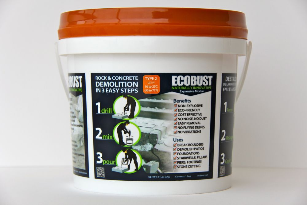 ECOBUST ECOBUST TYPE 2 (10 to 25C) Expansive Mortar - 11 Lbs Pail