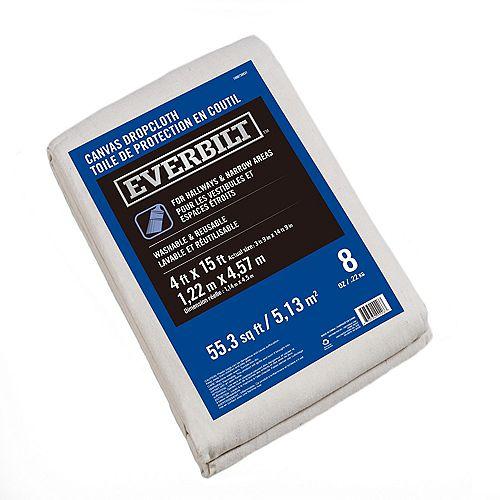 Everbilt 3 ft. 9-inch x 14 ft. 9-inch 227g Canvas Drop Cloth