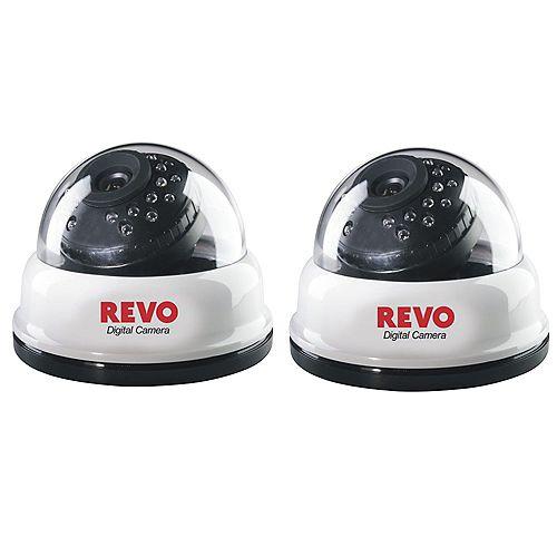 Revo America 24IR 540TVL dome cameras (2-Pack)