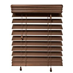 Home Decorators Collection 48x48 Maple 2.5 Inch Premium Faux Wood Blind (Actual width 47.5 Inch)