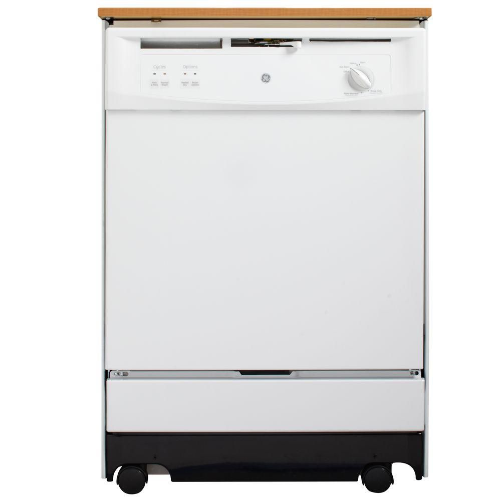 24-inch Portable Dishwasher in White