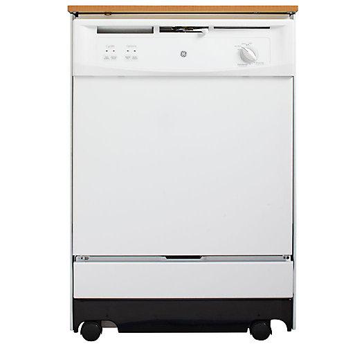 Ge Lave Vaisselle Portatif De 24 Pouces En Blanc Avec Capacite De 12