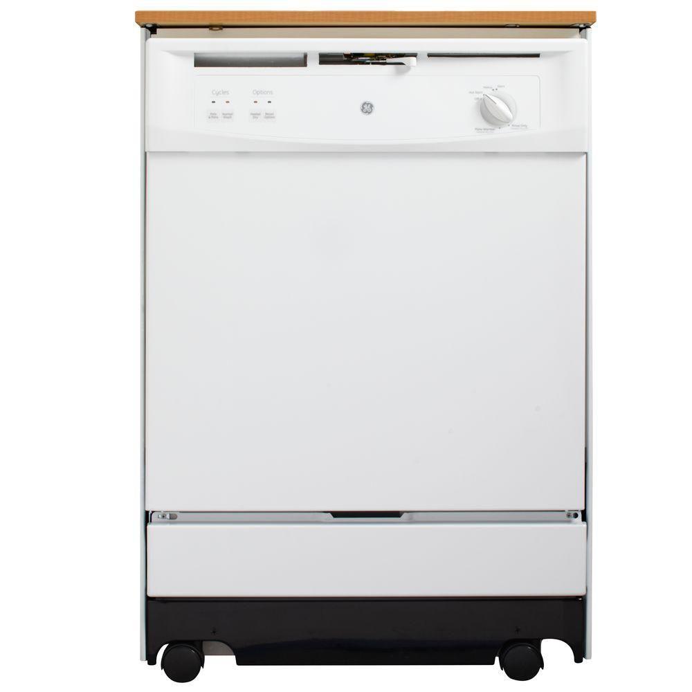 24-inch Portable Dishwasher in White