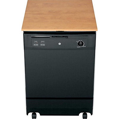 ge 24 inch portable dishwasher in black the home depot canada