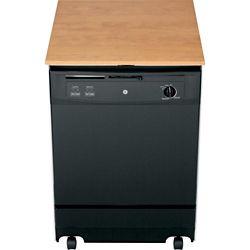 GE 24-inch Portable Dishwasher in Black