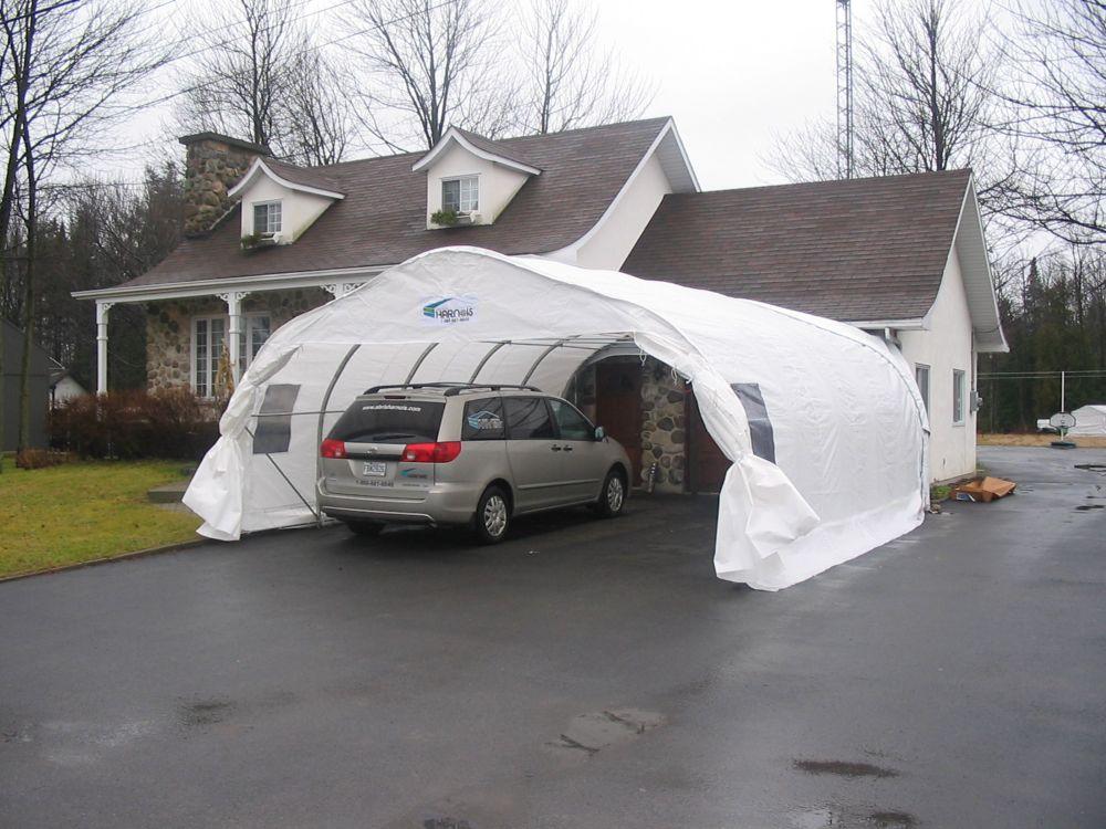 Harnois abri d 39 auto harnois double xl18 20 18 pieds x 20 for Abri auto double costco