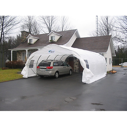 Double  Car Shelter XL18 - 18 ft. x 20 ft.