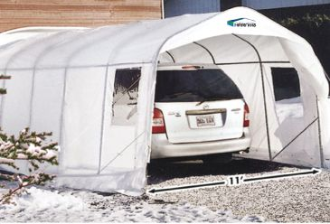 Simple Harnois Car Shelter XR11X16 - 11 Feet x 16 Feet