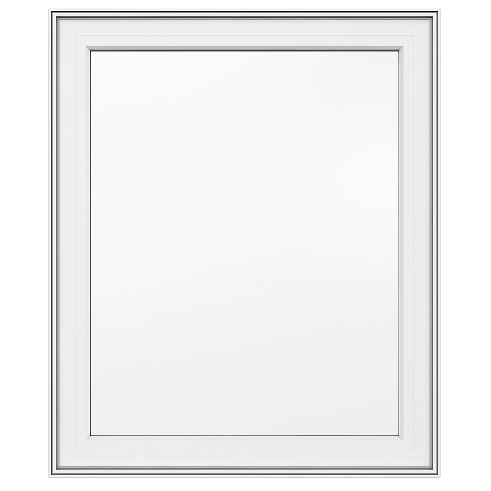 30-inch x 36-inch 5000 Series Vinyl Left Handed Casement Window with 3 1/4-inch Frame