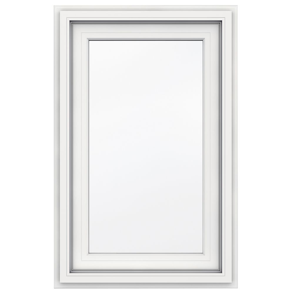 5000 SERIES Vinyl Right Handed Casement Window 23x38 Featuring J Channel Brickmould