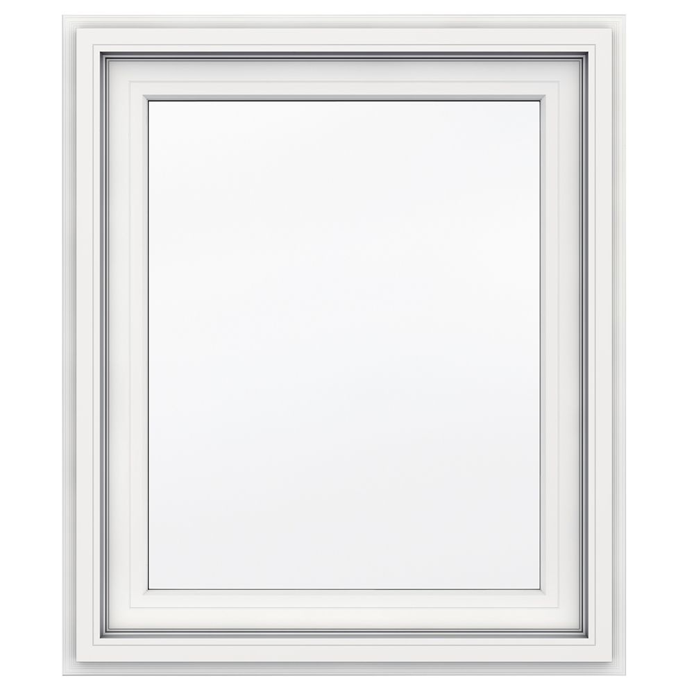 5000 SERIES Vinyl Right Handed Casement Window 30x36 Featuring J Channel Brickmould
