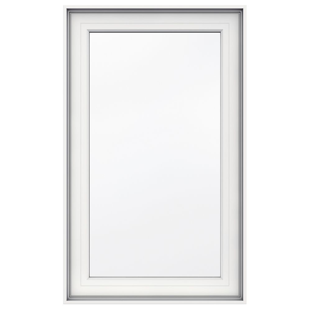 23-inch x 38-inch 5000 Series Vinyl Left Handed Casement Window with 4 9/16-inch Frame