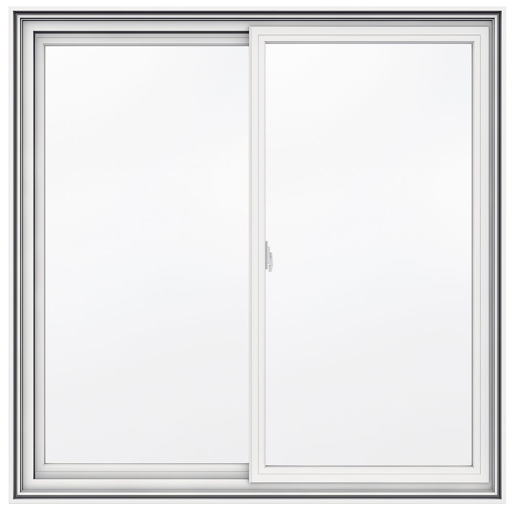 48-inch x 48-inch 5000 Series Vinyl Double Sliding Window with 4 9/16-inch Frame