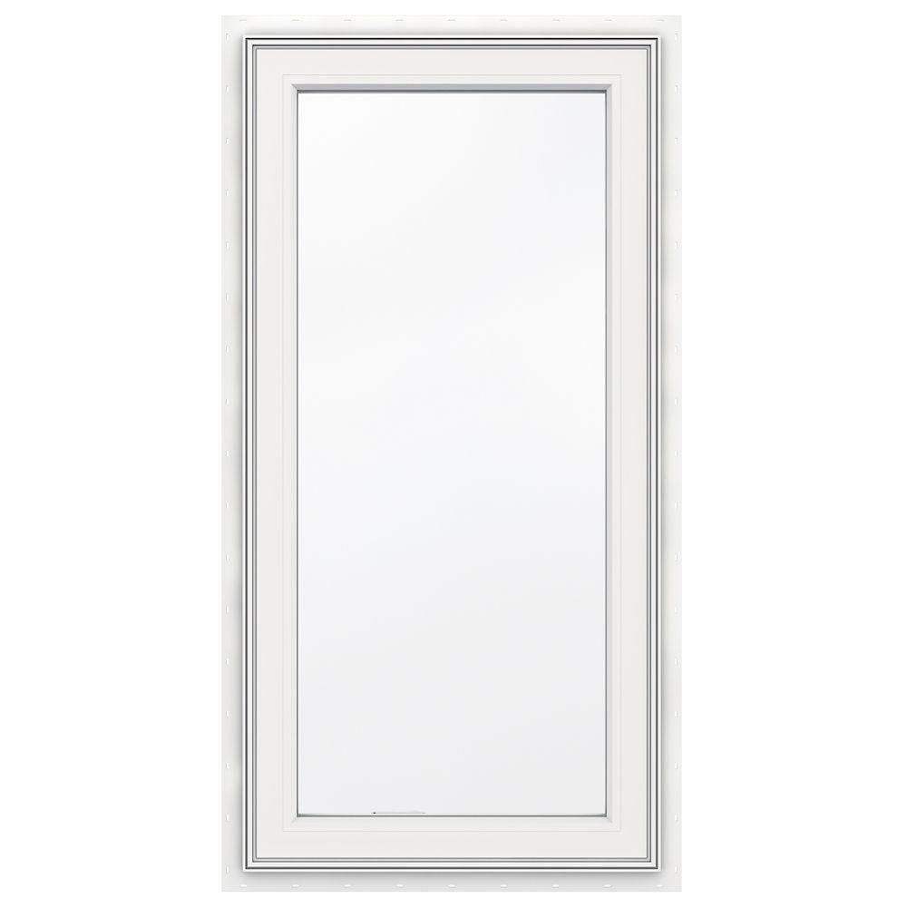 3500 SERIES Vinyl Left Handed Casement Window 24 Inch x 48 Inch