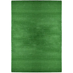 Turf Green 6 ft. x 8 ft. Indoor/Outdoor Contemporary Rectangular Area Rug