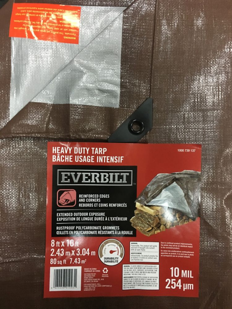 8x10ft Heavy Duty Tarp