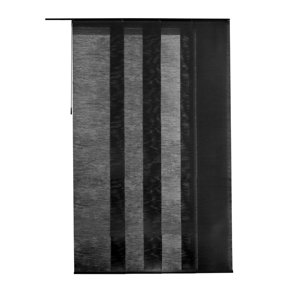 Panneau en tissu, Manhattan noir noyer, 55cmx269cm (Largeur réelle 55cm)