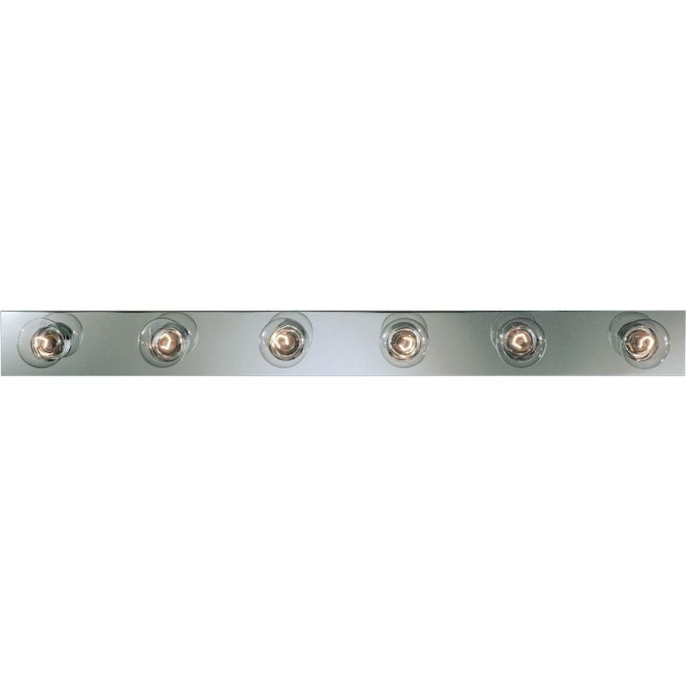 Broadway Collection Chrome 6-light Vanity Fixture
