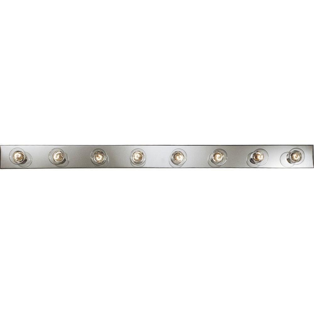 Broadway Collection Chrome 8-light Vanity Fixture