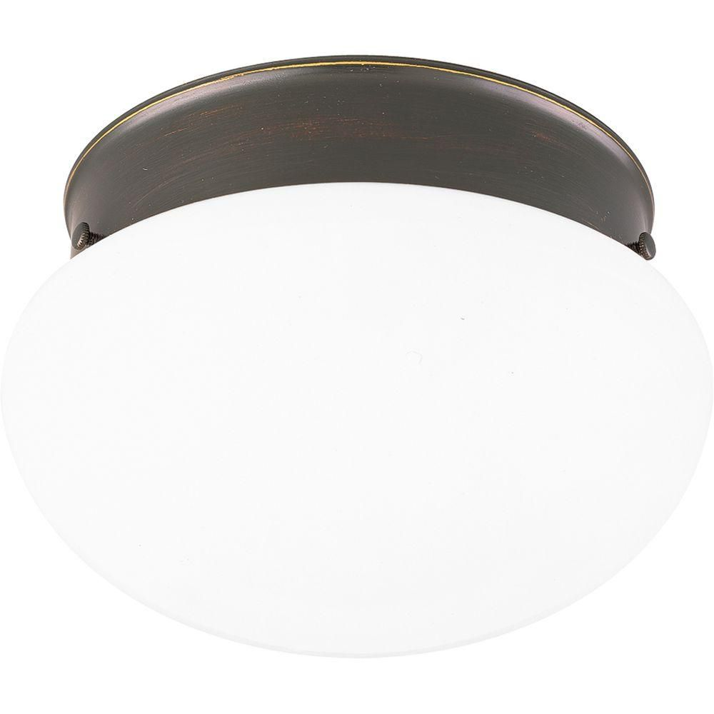 Antique Bronze 2-light Flush mount