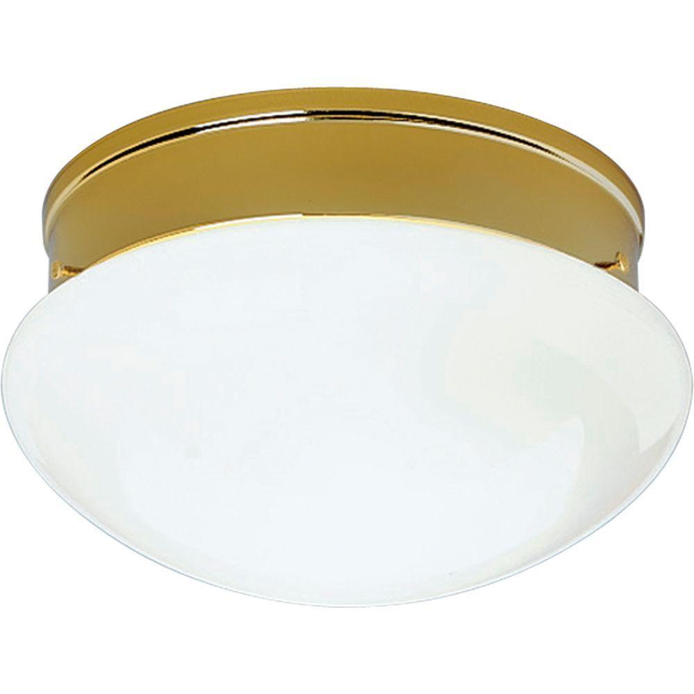 progress lighting polished brass 2 light flush mount the. Black Bedroom Furniture Sets. Home Design Ideas