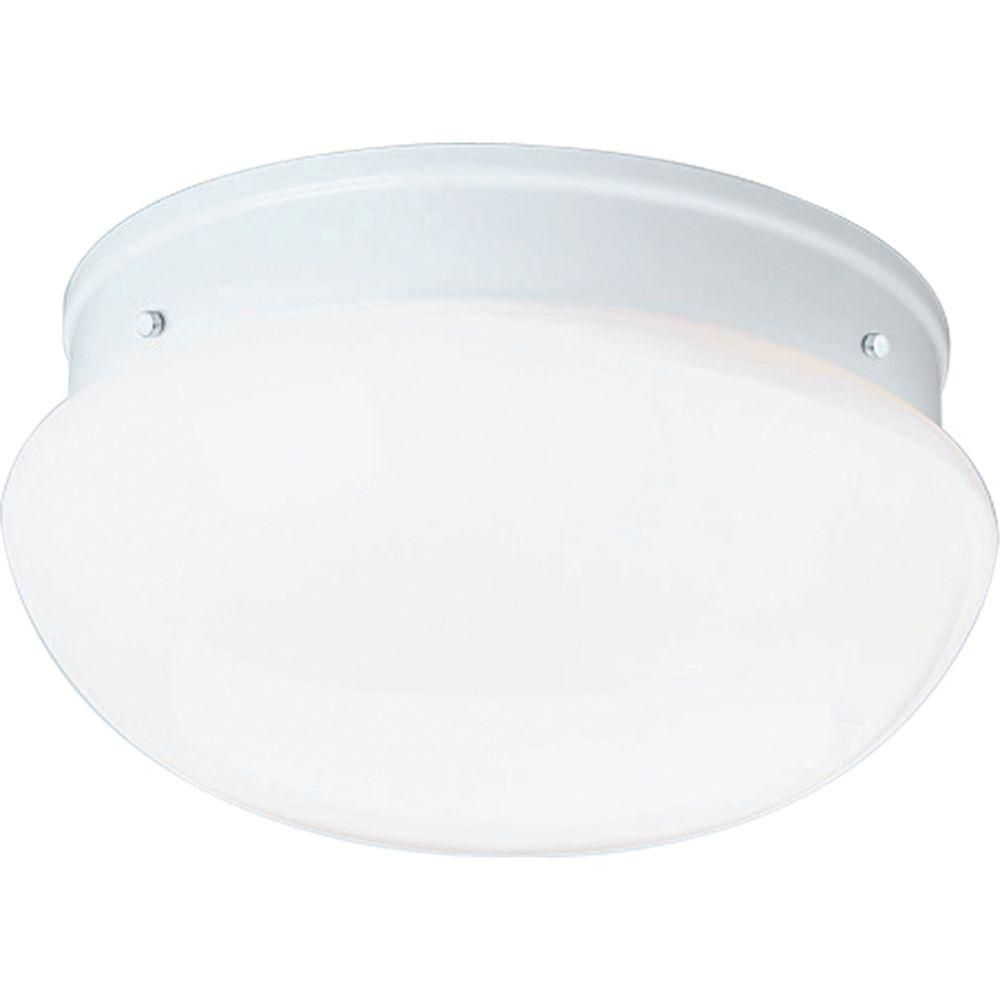 White 2-light Flush mount