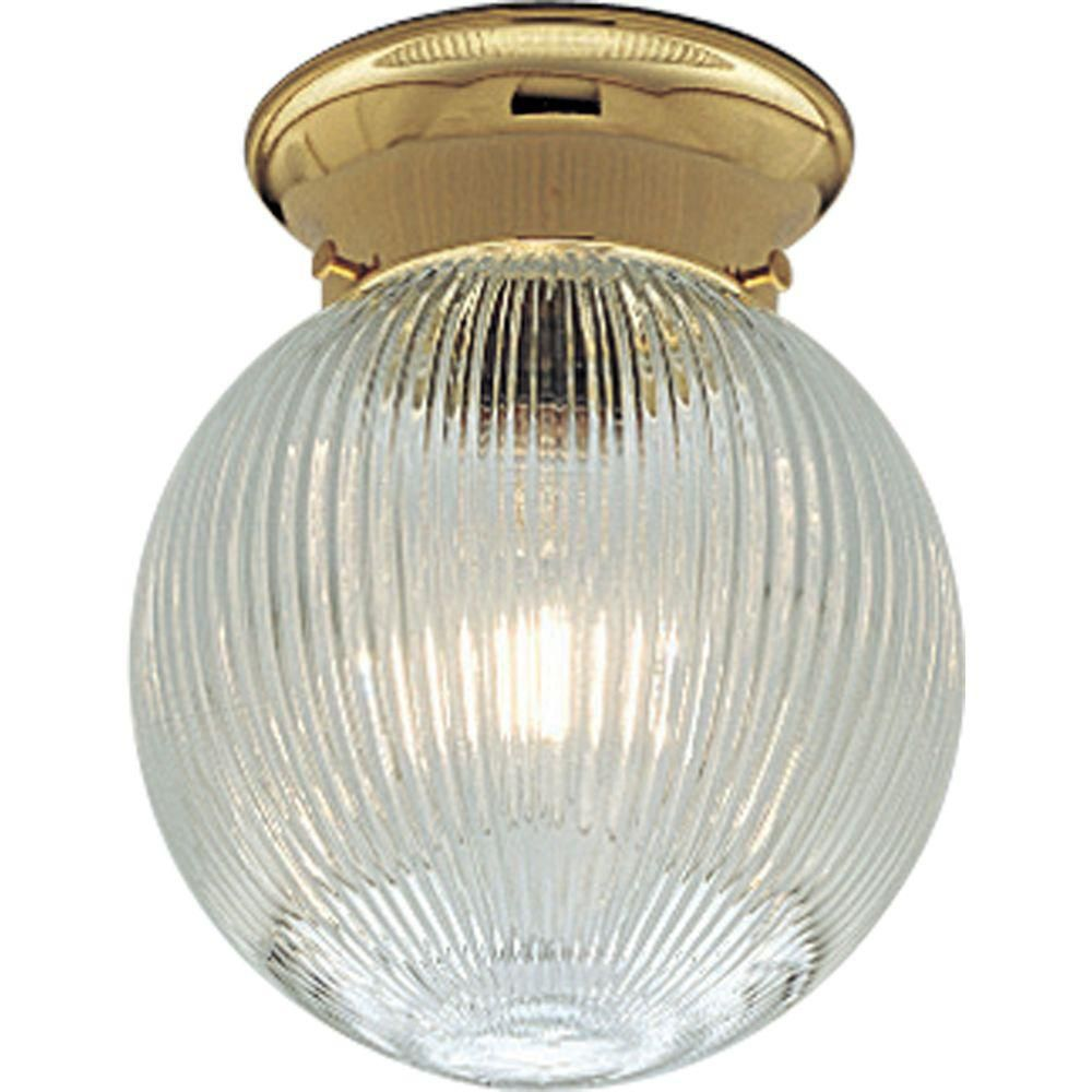 Polished Brass 1-light Flush mount