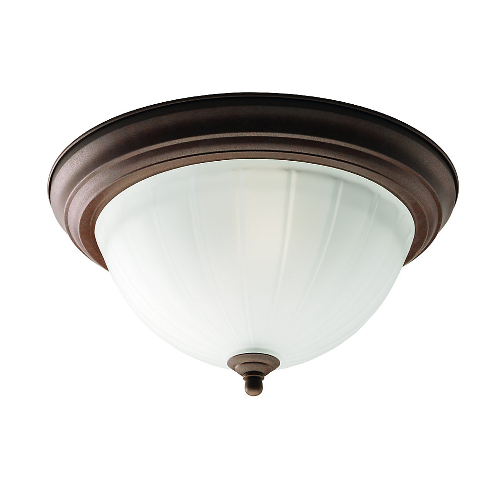 Cobblestone 2-light Flush mount