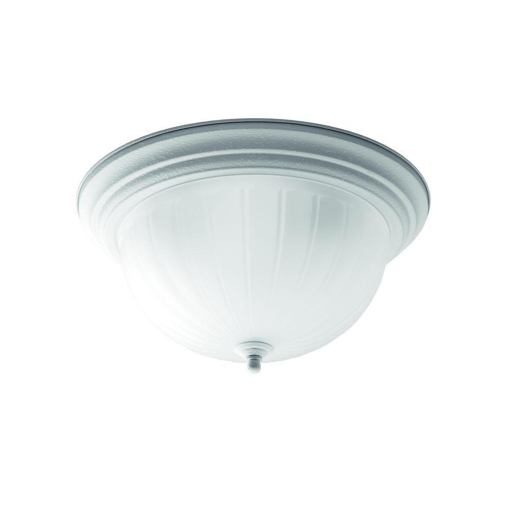 White 3-light Flush mount