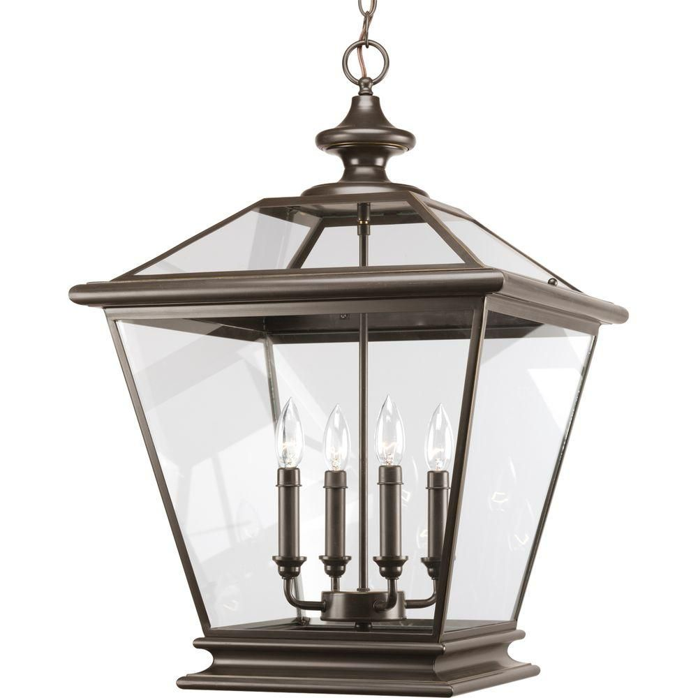 Crestwood Collection Antique Bronze 4-light Foyer Pendant