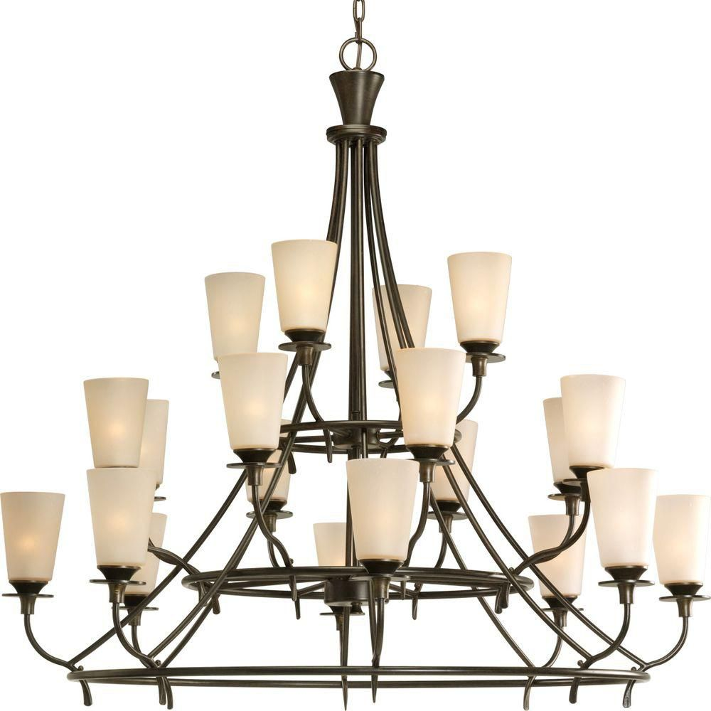 Cantata Collection Forged Bronze 20-light Chandelier